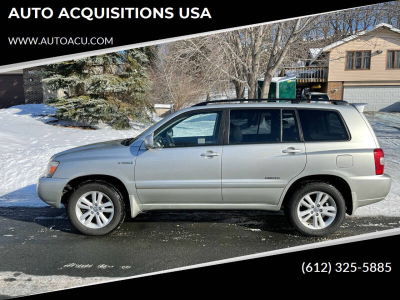 2007 Toyota Highlander Hybrid for sale at AUTO ACQUISITIONS USA in Eden Prairie MN