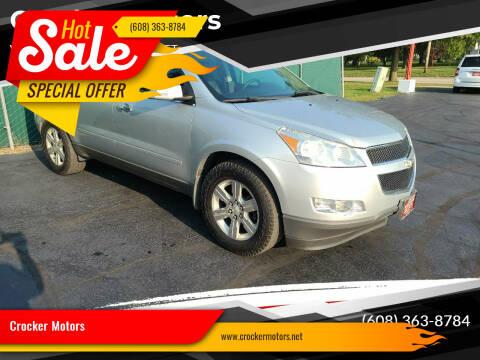 2011 Chevrolet Traverse for sale at Crocker Motors in Beloit WI