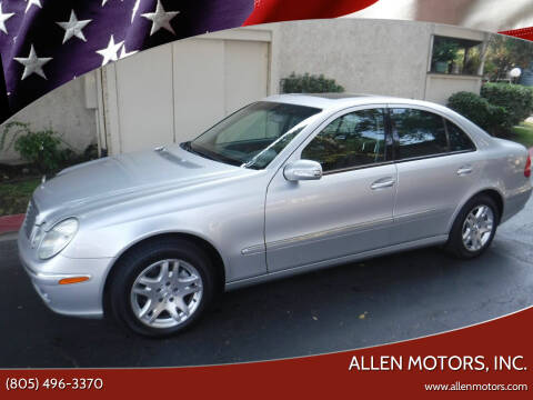 2005 Mercedes-Benz E-Class for sale at Allen Motors, Inc. in Thousand Oaks CA