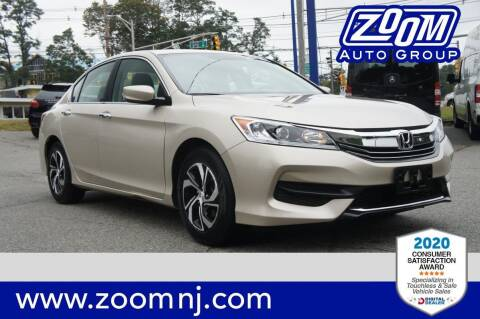2017 Honda Accord for sale at Zoom Auto Group in Parsippany NJ