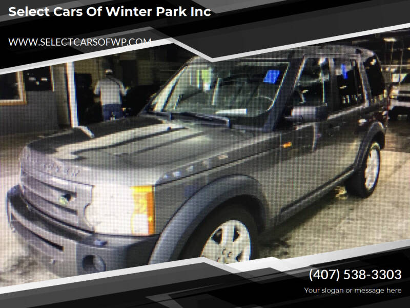 2008 Land Rover LR3 for sale at Select Cars Of Winter Park Inc in Orlando FL