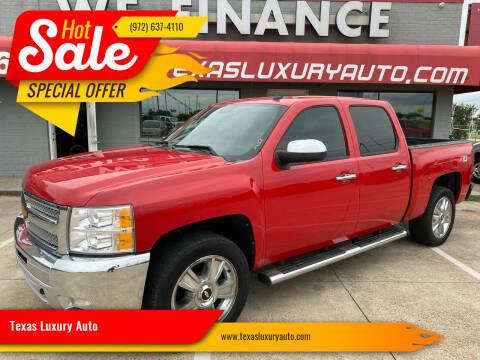 2012 Chevrolet Silverado 1500 for sale at Texas Luxury Auto in Cedar Hill TX
