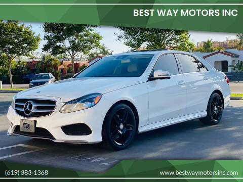 2014 Mercedes-Benz E-Class for sale at BEST WAY MOTORS INC in San Diego CA