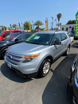 2013 Ford Explorer for sale at 2955 FIRESTONE BLVD - 3271 E. Firestone Blvd Lot in South Gate CA