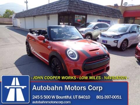 2020 MINI Convertible for sale at Autobahn Motors Corp in Bountiful UT