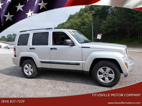 2012 Jeep Liberty for sale at Titusville Motor Company in Titusville PA