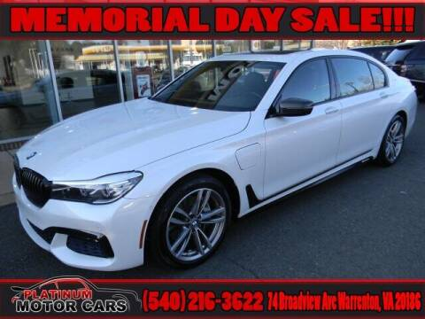 2017 BMW 7 Series for sale at Platinum Motorcars in Warrenton VA