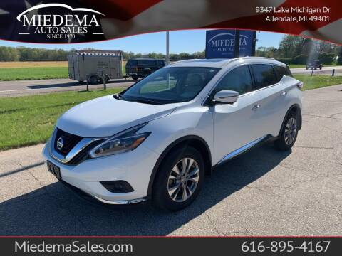 2018 Nissan Murano for sale at Miedema Auto Sales in Allendale MI