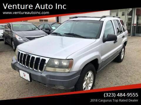 2002 Jeep Grand Cherokee for sale at Venture Auto Inc in South Gate CA