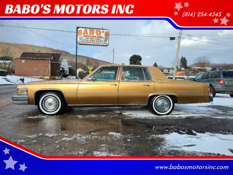 1977 Cadillac DeVille for sale at BABO'S MOTORS INC in Johnstown PA