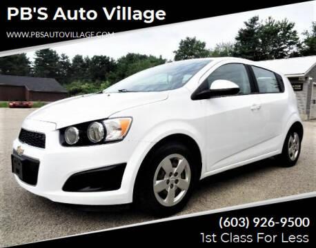 2015 Chevrolet Sonic for sale at PB'S Auto Village in Hampton Falls NH