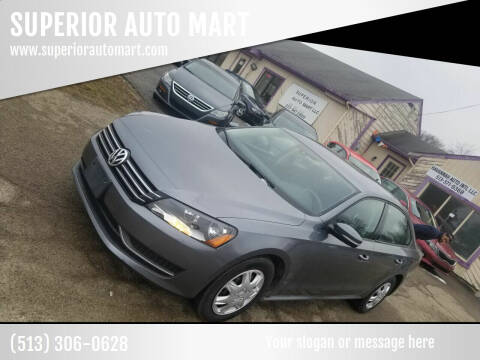 2013 Volkswagen Passat for sale at SUPERIOR AUTO MART in Amelia OH