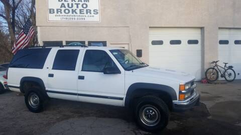 1999 Chevrolet Suburban for sale at De Kam Auto Brokers in Colorado Springs CO