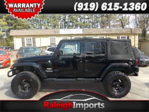 2011 Jeep Wrangler Unlimited for sale at Raleigh Imports in Raleigh NC