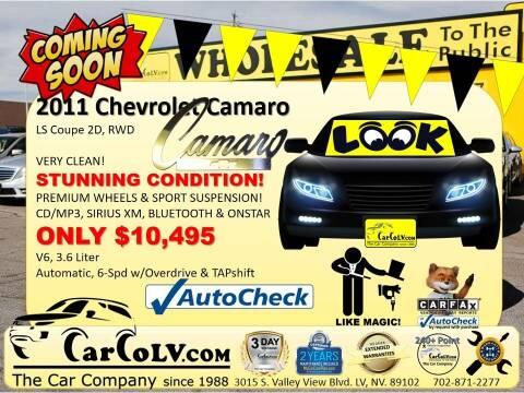2011 Chevrolet Camaro for sale at The Car Company in Las Vegas NV
