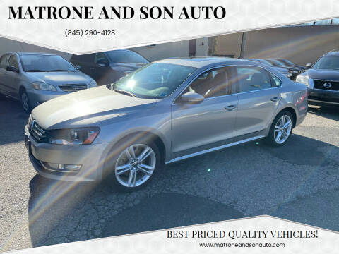 2012 Volkswagen Passat for sale at Matrone and Son Auto in Tallman NY