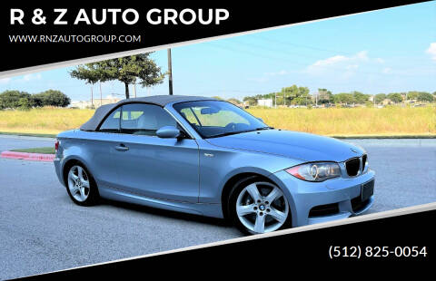 2008 BMW 1 Series for sale at R & Z AUTO GROUP in Austin TX