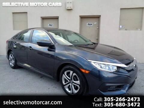 2018 Honda Civic for sale at Selective Motor Cars in Miami FL