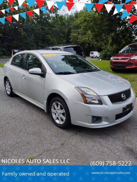 2011 Nissan Sentra for sale at NICOLES AUTO SALES LLC in Cream Ridge NJ
