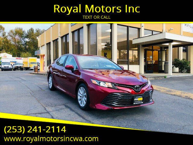 2019 Toyota Camry for sale at Royal Motors Inc in Kent WA