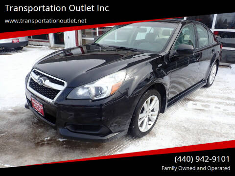 2013 Subaru Legacy for sale at Transportation Outlet Inc in Eastlake OH