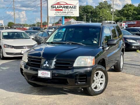 2005 Mitsubishi Endeavor for sale at Supreme Auto Sales in Chesapeake VA