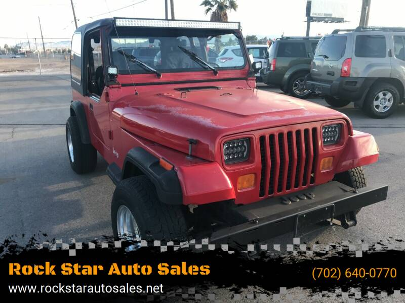 1995 Jeep Wrangler for sale at Rock Star Auto Sales in Las Vegas NV