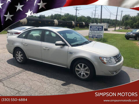2008 Ford Taurus for sale at SIMPSON MOTORS in Youngstown OH