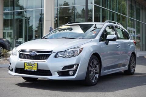 2016 Subaru Impreza for sale at Jeremy Sells Hyundai in Edmonds WA