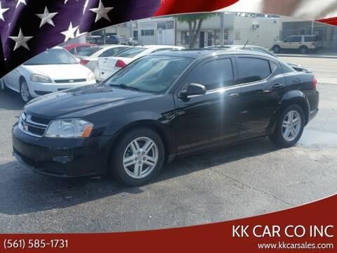2014 Dodge Avenger for sale at KK Car Co Inc in Lake Worth FL