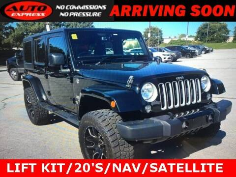 2016 Jeep Wrangler Unlimited for sale at Auto Express in Lafayette IN