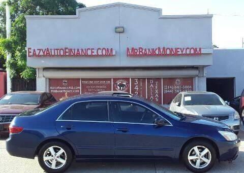 2005 Honda Accord for sale at Eazy Auto Finance in Dallas TX