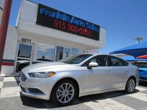 2017 Ford Fusion for sale at Franklin Auto Sales in El Paso TX