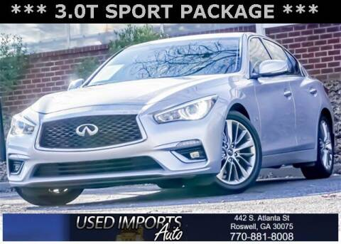 2018 Infiniti Q50 for sale at Used Imports Auto in Roswell GA
