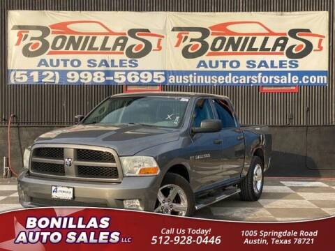 2012 RAM Ram Pickup 1500 for sale at Bonillas Auto Sales in Austin TX