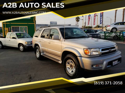 1999 Toyota 4Runner for sale at A2B AUTO SALES in Chula Vista CA