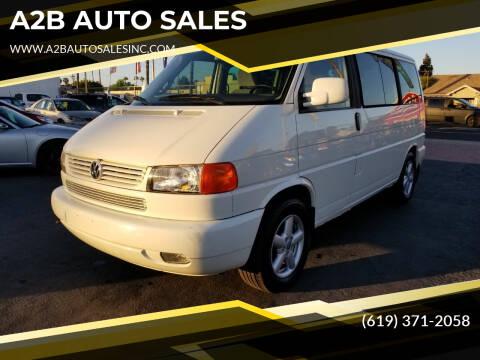 2003 Volkswagen EuroVan for sale at A2B AUTO SALES in Chula Vista CA