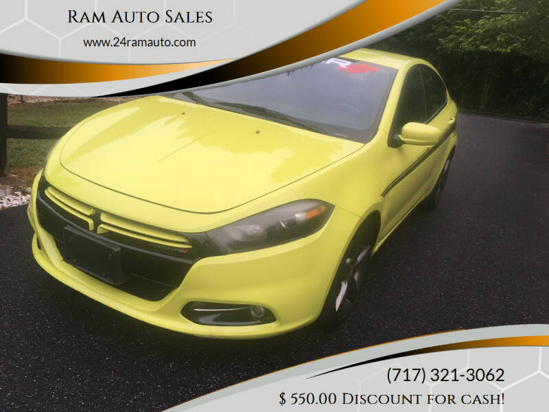 2013 Dodge Dart for sale at Ram Auto Sales in Gettysburg PA