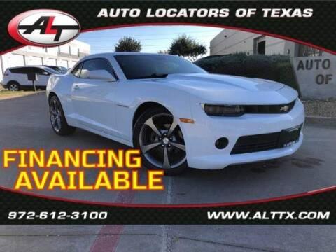 2014 Chevrolet Camaro for sale at AUTO LOCATORS OF TEXAS in Plano TX