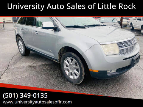 2007 Lincoln MKX for sale at University Auto Sales of Little Rock in Little Rock AR