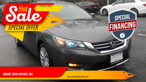 2015 Honda Accord for sale at MOUNT EDEN MOTORS INC in Bronx NY
