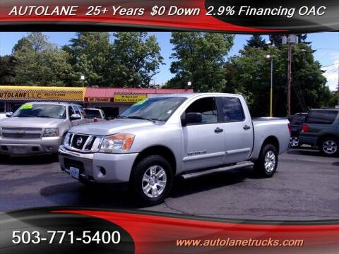 2013 Nissan Titan for sale at Auto Lane in Portland OR
