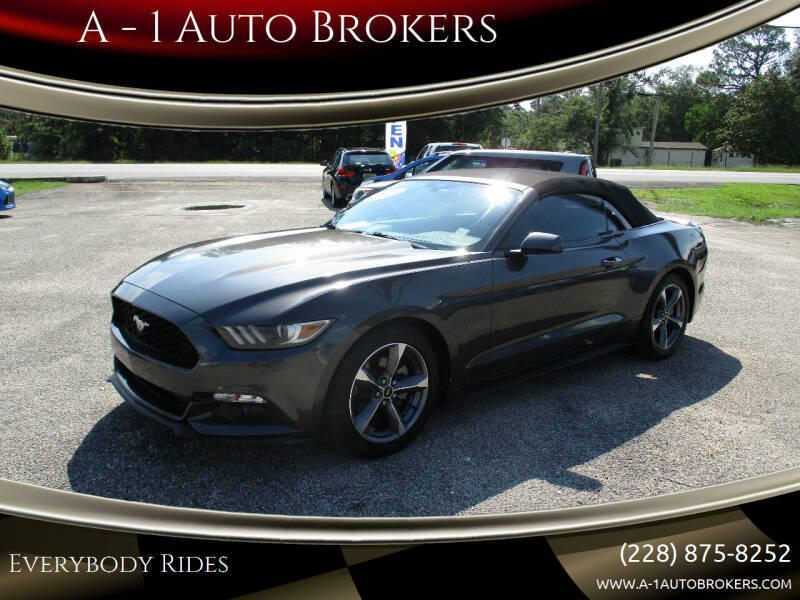 2015 Ford Mustang for sale at A - 1 Auto Brokers in Ocean Springs MS