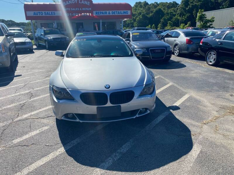 2005 BMW 6 Series for sale at Sandy Lane Auto Sales and Repair in Warwick RI