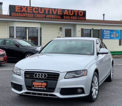 2009 Audi A4 for sale at Executive Auto in Winchester VA