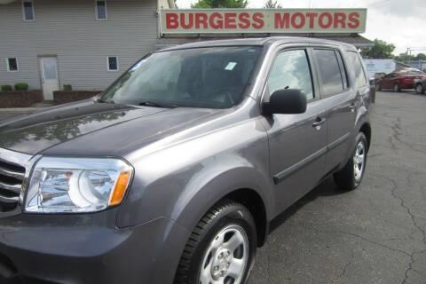 2015 Honda Pilot for sale at Burgess Motors Inc in Michigan City IN