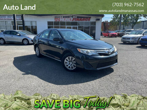 2012 Toyota Camry for sale at Auto Land in Manassas VA