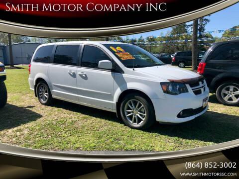 2014 Dodge Grand Caravan for sale at Smith Motor Company INC in Mc Cormick SC