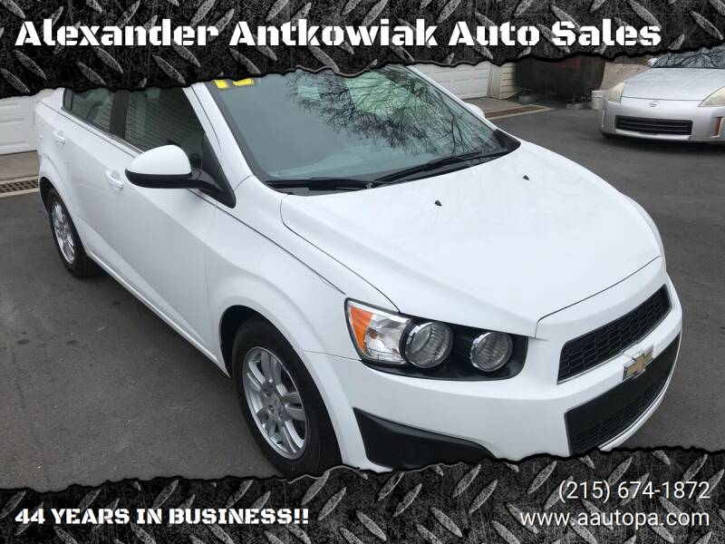 2012 Chevrolet Sonic for sale at Alexander Antkowiak Auto Sales in Hatboro PA