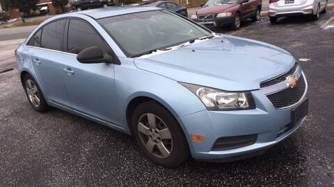 2012 Chevrolet Cruze for sale at WEINLE MOTORSPORTS in Cleves OH